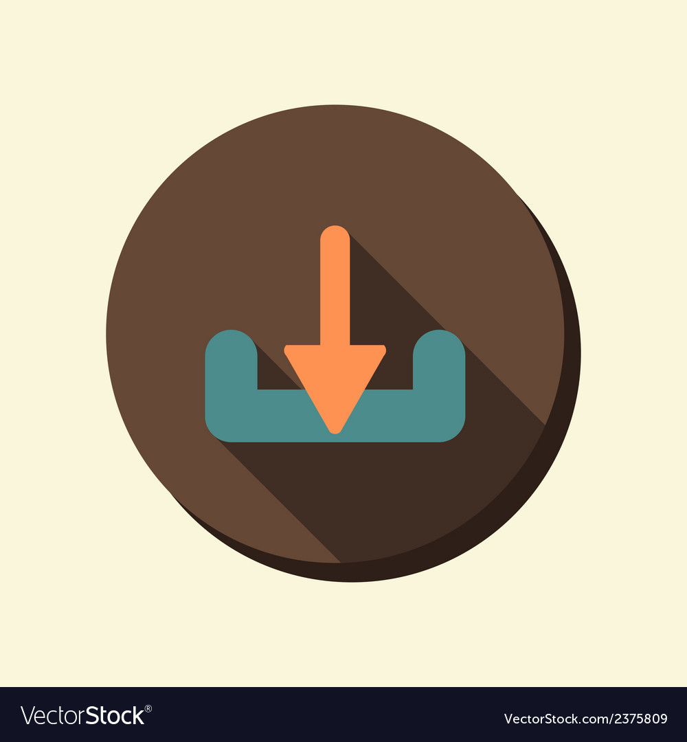 Flat circle web icon download vector | Price: 1 Credit (USD $1)