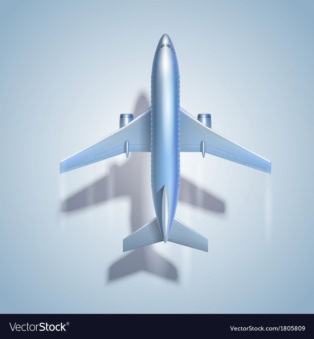 Flying airplane symbol vector | Price: 1 Credit (USD $1)
