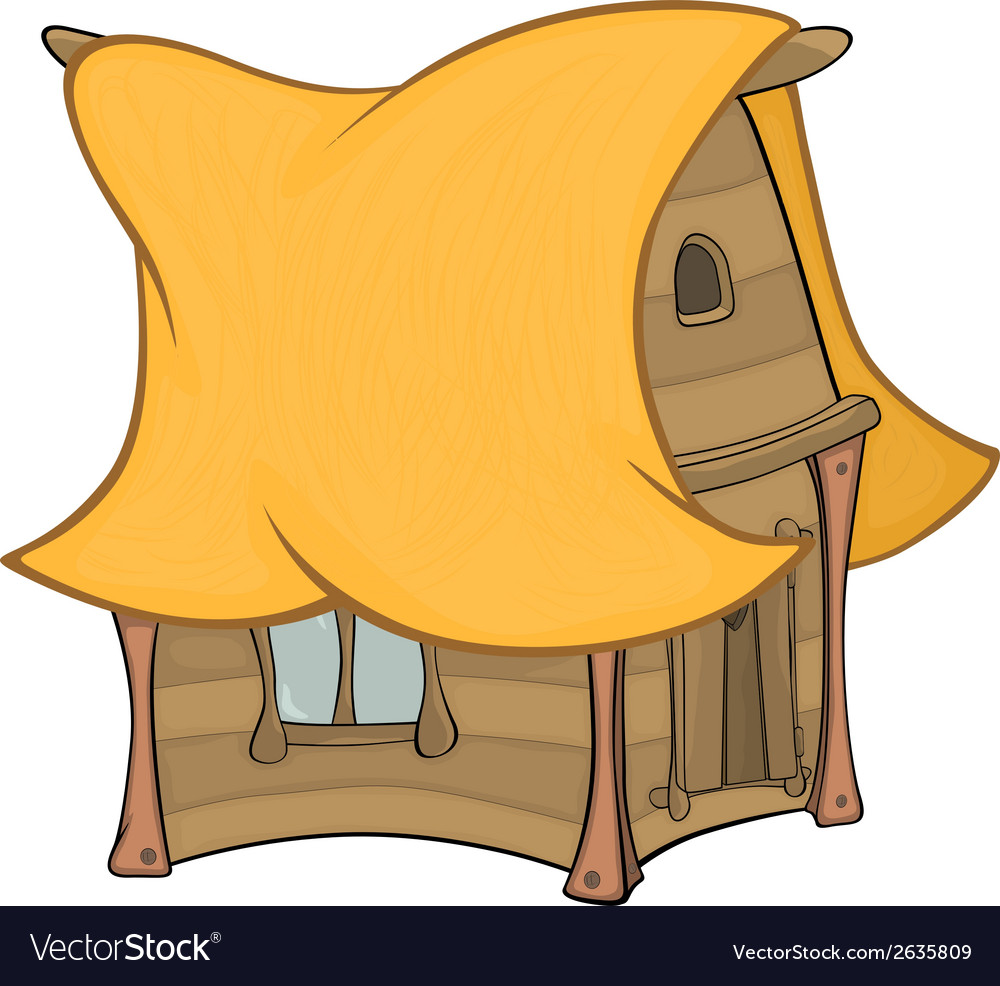 Funny little house cartoon vector | Price: 1 Credit (USD $1)