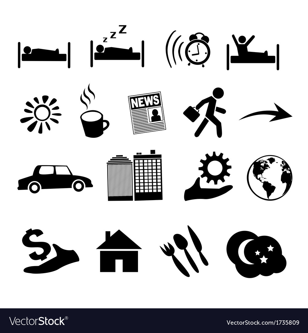 Isolated concept of human life icons vector | Price: 1 Credit (USD $1)
