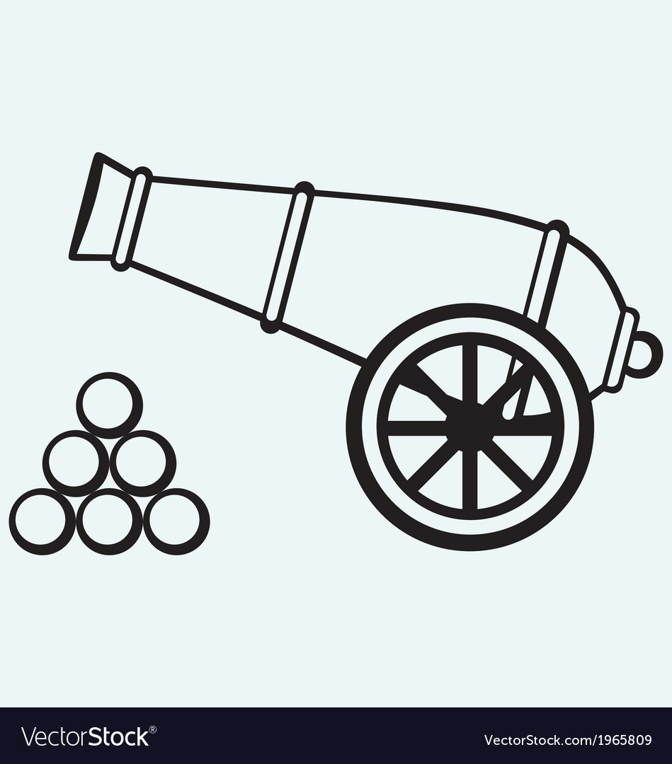 Medieval cannon vector | Price: 1 Credit (USD $1)