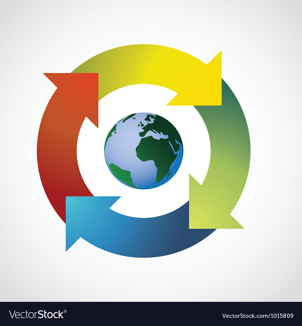 Recycle earth vector | Price: 1 Credit (USD $1)