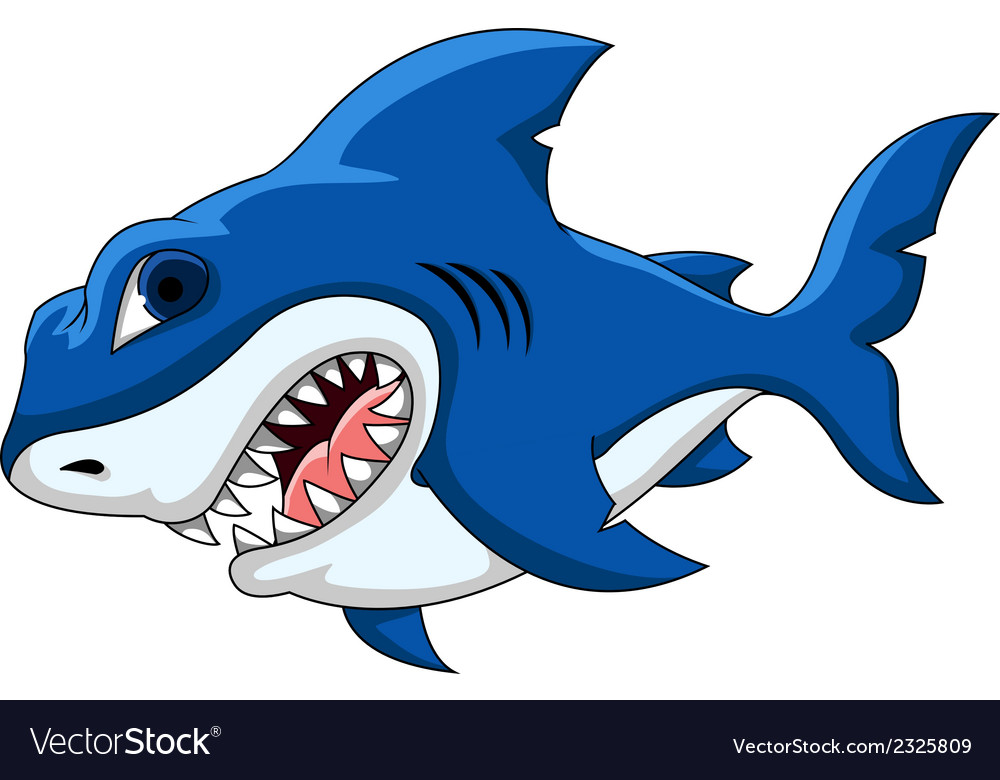 Shark cartoon vector | Price: 1 Credit (USD $1)