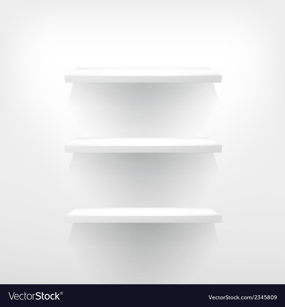 Three empty shelf for exhibit vector | Price: 1 Credit (USD $1)