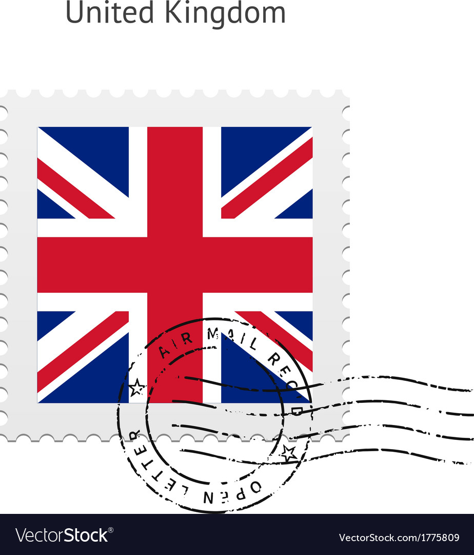 United kingdom flag postage stamp vector | Price: 1 Credit (USD $1)