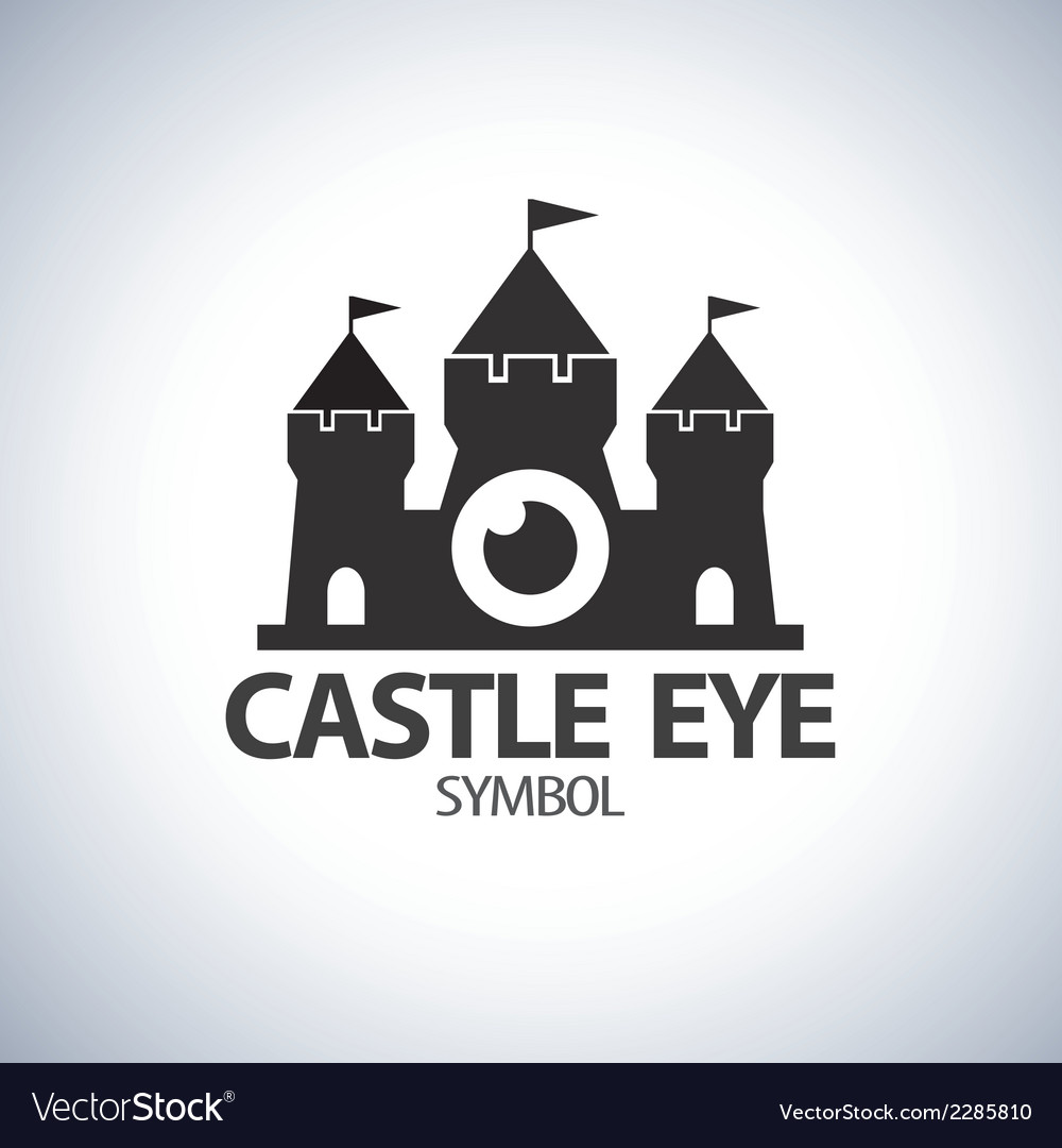 Castle eye symbol icon vector | Price: 1 Credit (USD $1)