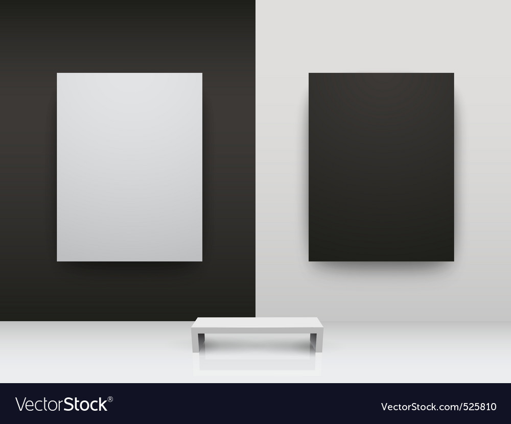 Dark and light gallery interio vector | Price: 1 Credit (USD $1)