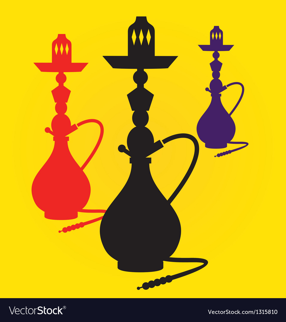 Different colors hookahs vector | Price: 1 Credit (USD $1)