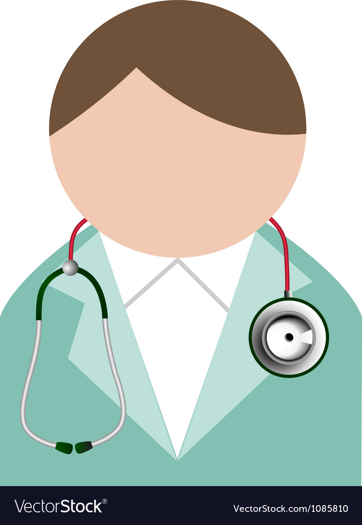 Doctor with stethoscope buddy icon vector | Price: 1 Credit (USD $1)