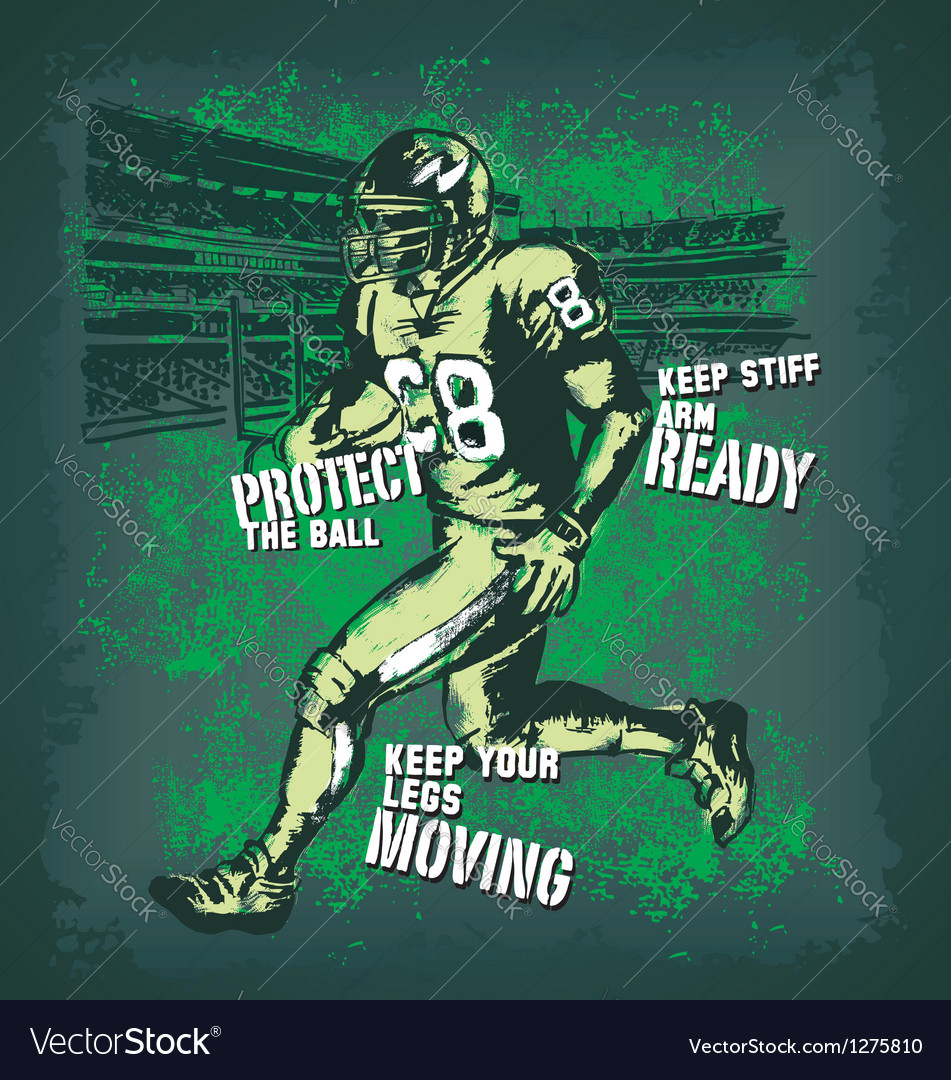 Football player glow vector
