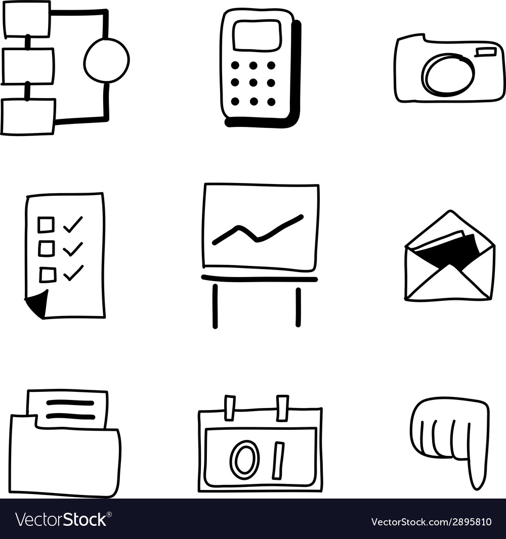 Hand drawing web icon vector | Price: 1 Credit (USD $1)