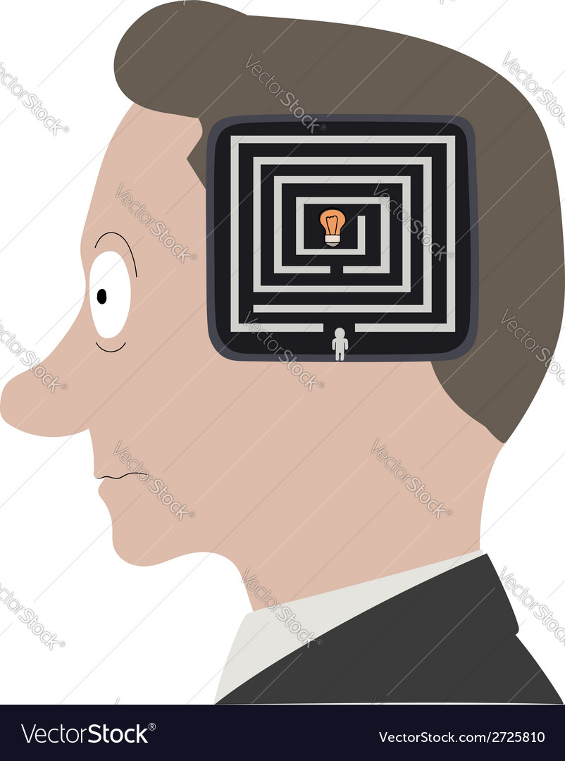 Head labyrinth vector | Price: 1 Credit (USD $1)