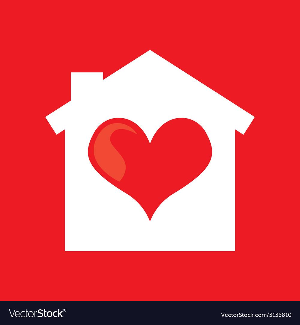Heart home design vector | Price: 1 Credit (USD $1)