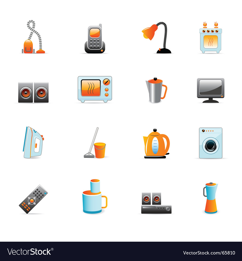 Home equipment icons vector | Price: 3 Credit (USD $3)