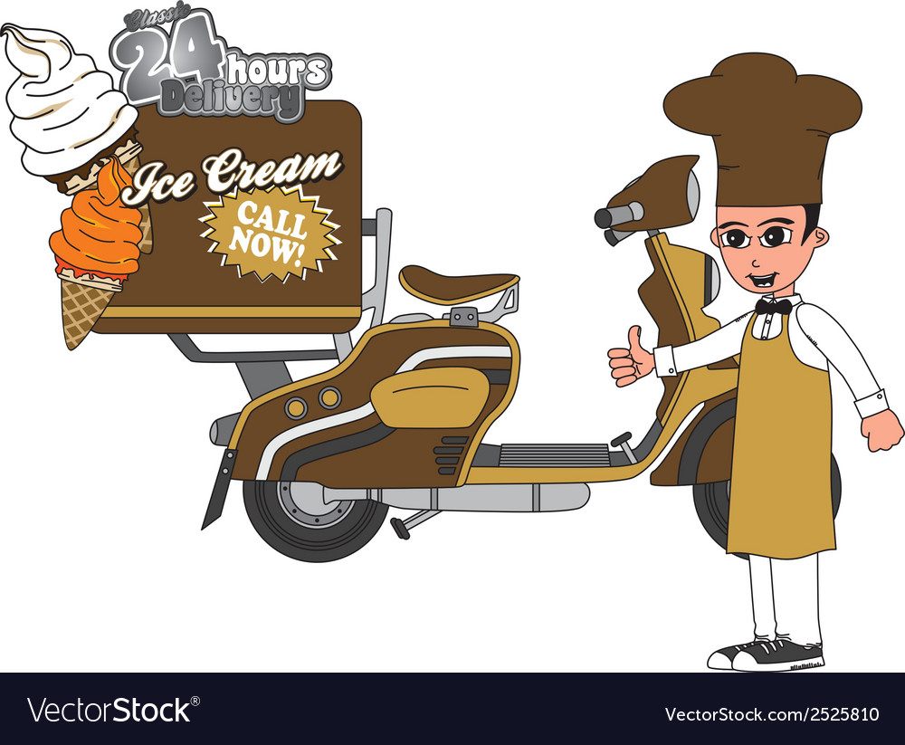 Ice cream delivery vector | Price: 1 Credit (USD $1)