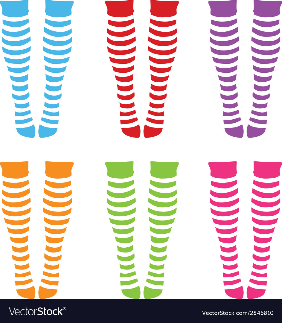 Knee-length socks vector | Price: 1 Credit (USD $1)