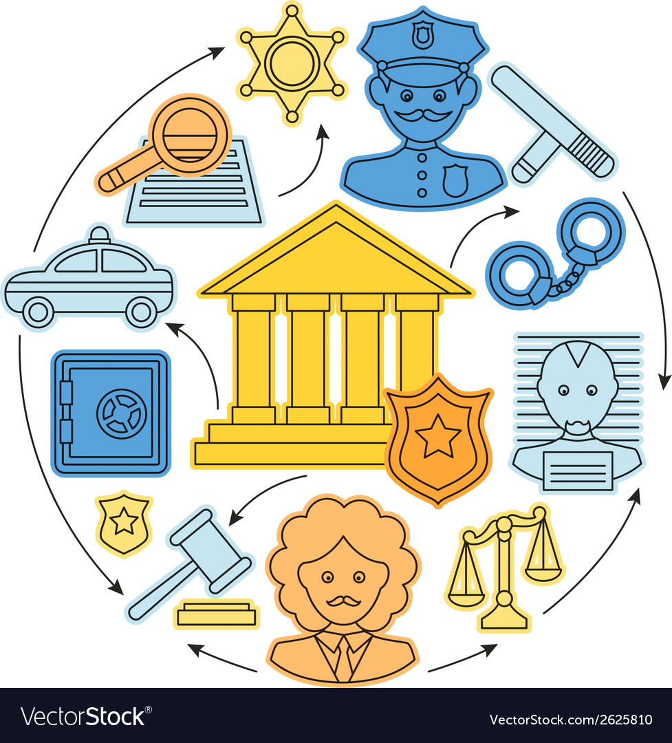 Law and justice concept vector | Price: 1 Credit (USD $1)