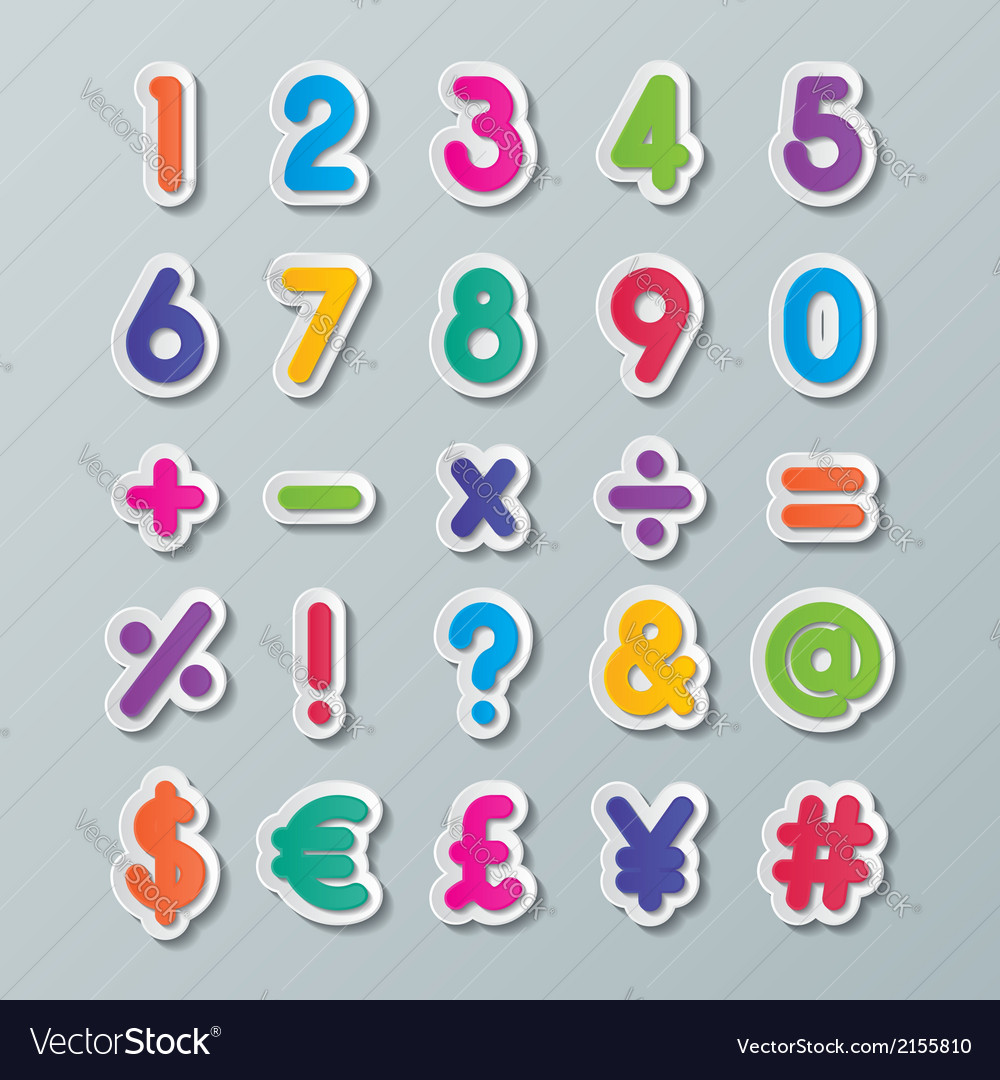 Paper number and symbol vector | Price: 1 Credit (USD $1)