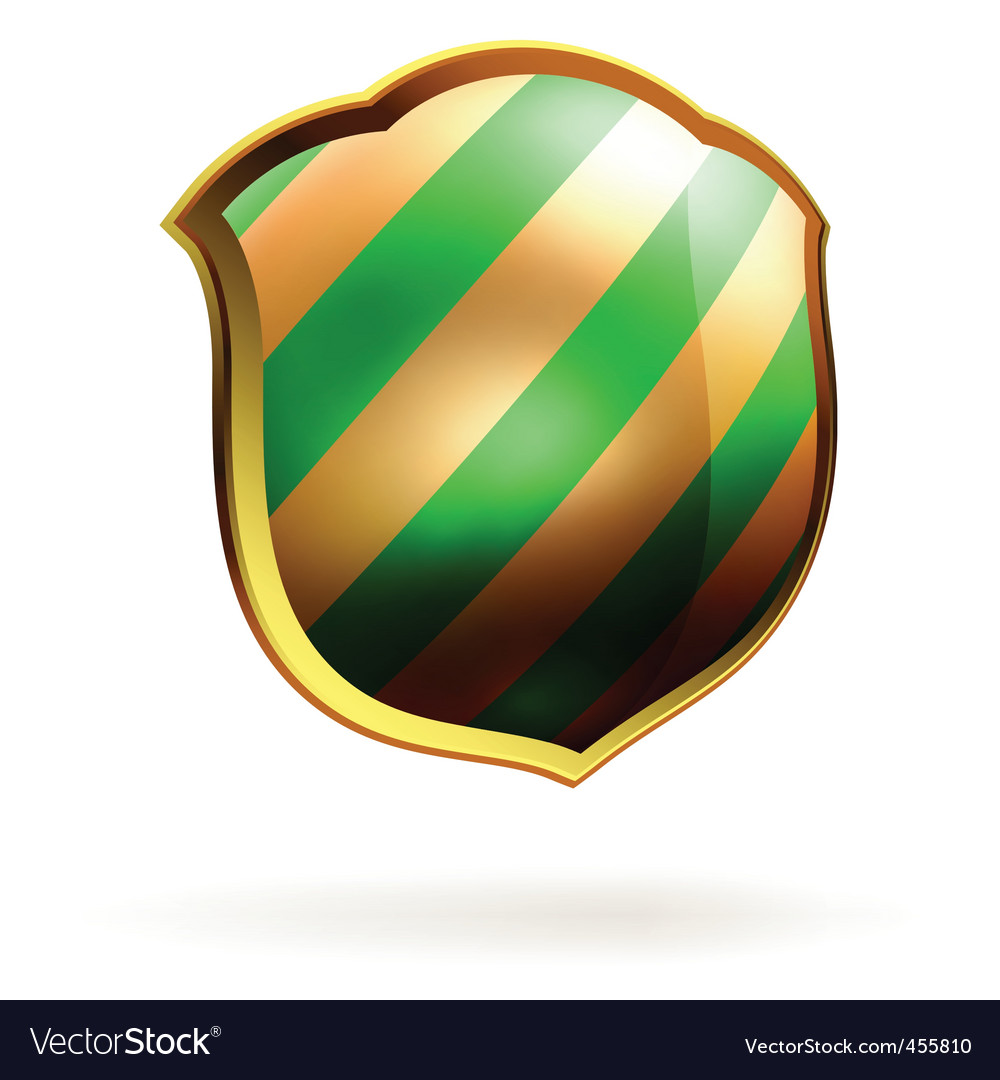 Shields in black and green hazard stripes eps 8 vector | Price: 1 Credit (USD $1)