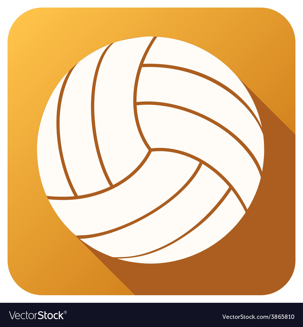 Sport icon with volleyball ball in flat style vector | Price: 1 Credit (USD $1)