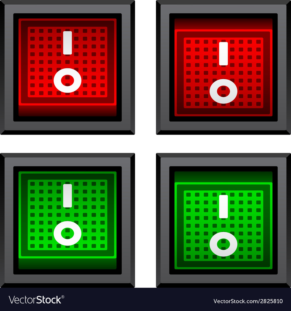 Square toggle power switches vector | Price: 1 Credit (USD $1)