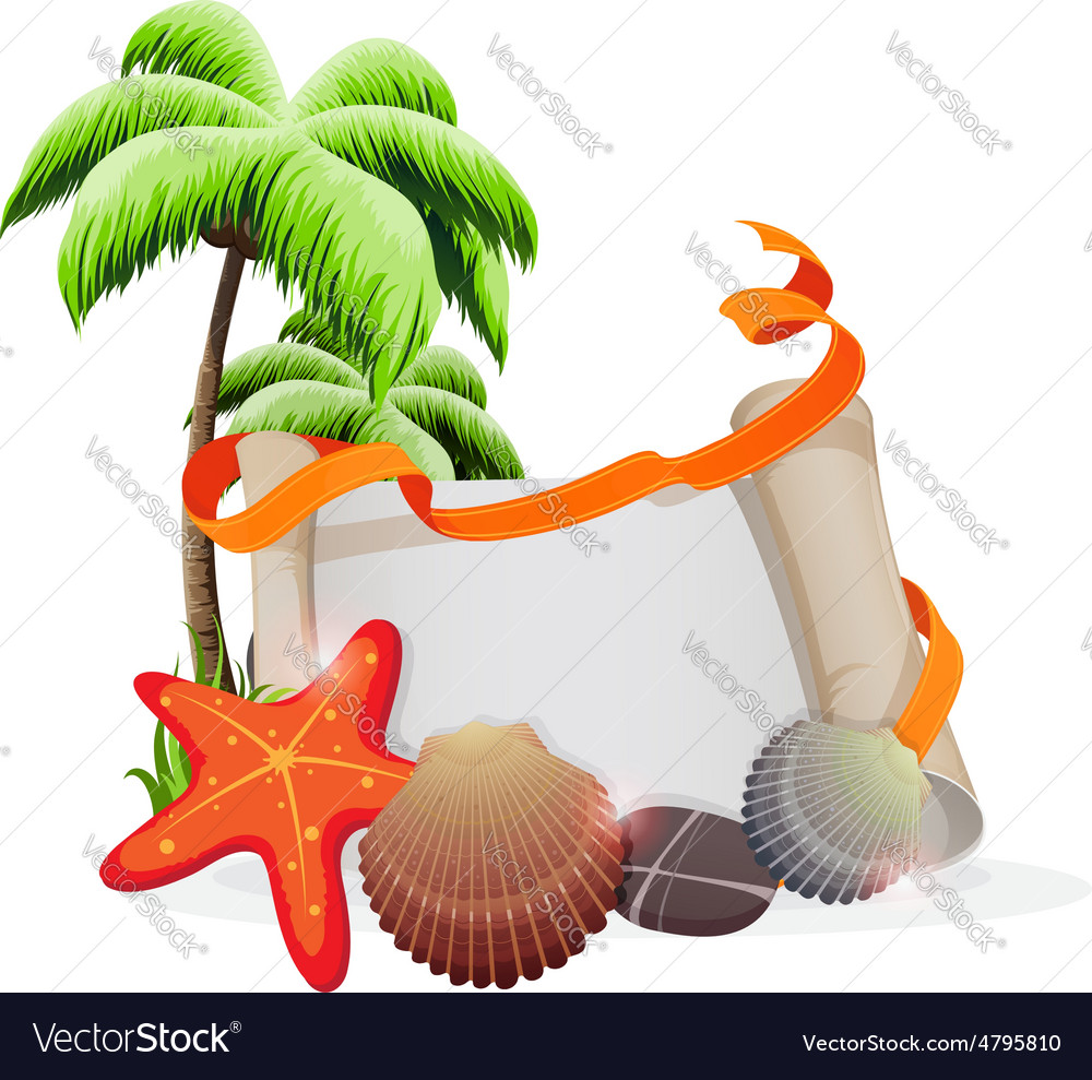 Tropical vacation concept vector | Price: 3 Credit (USD $3)