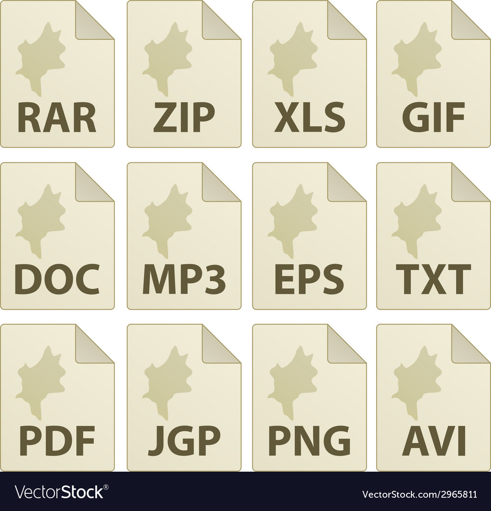 Aged document icons vector | Price: 1 Credit (USD $1)