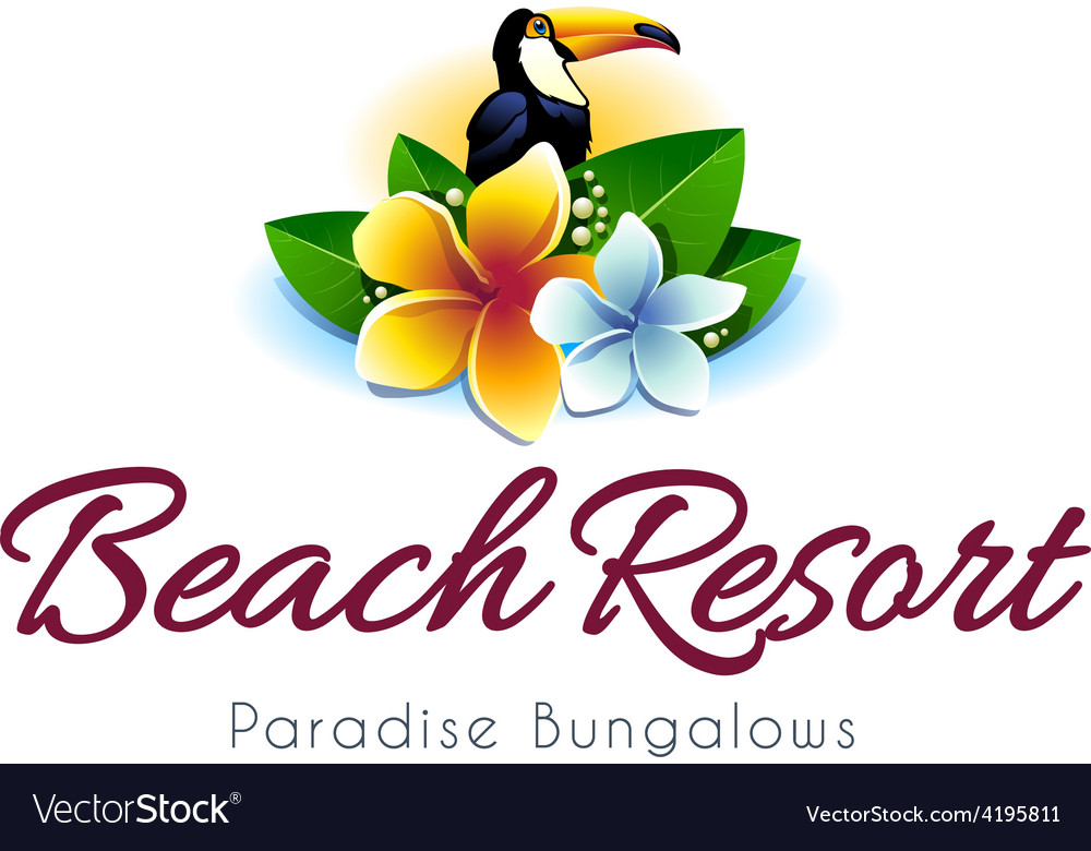 Beach resort logo vector | Price: 1 Credit (USD $1)