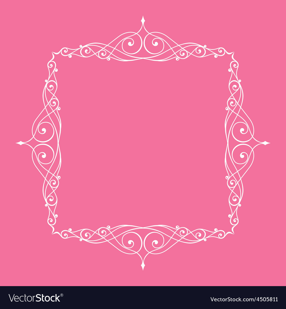 Calligraphic frame and page decoration pink vector | Price: 1 Credit (USD $1)