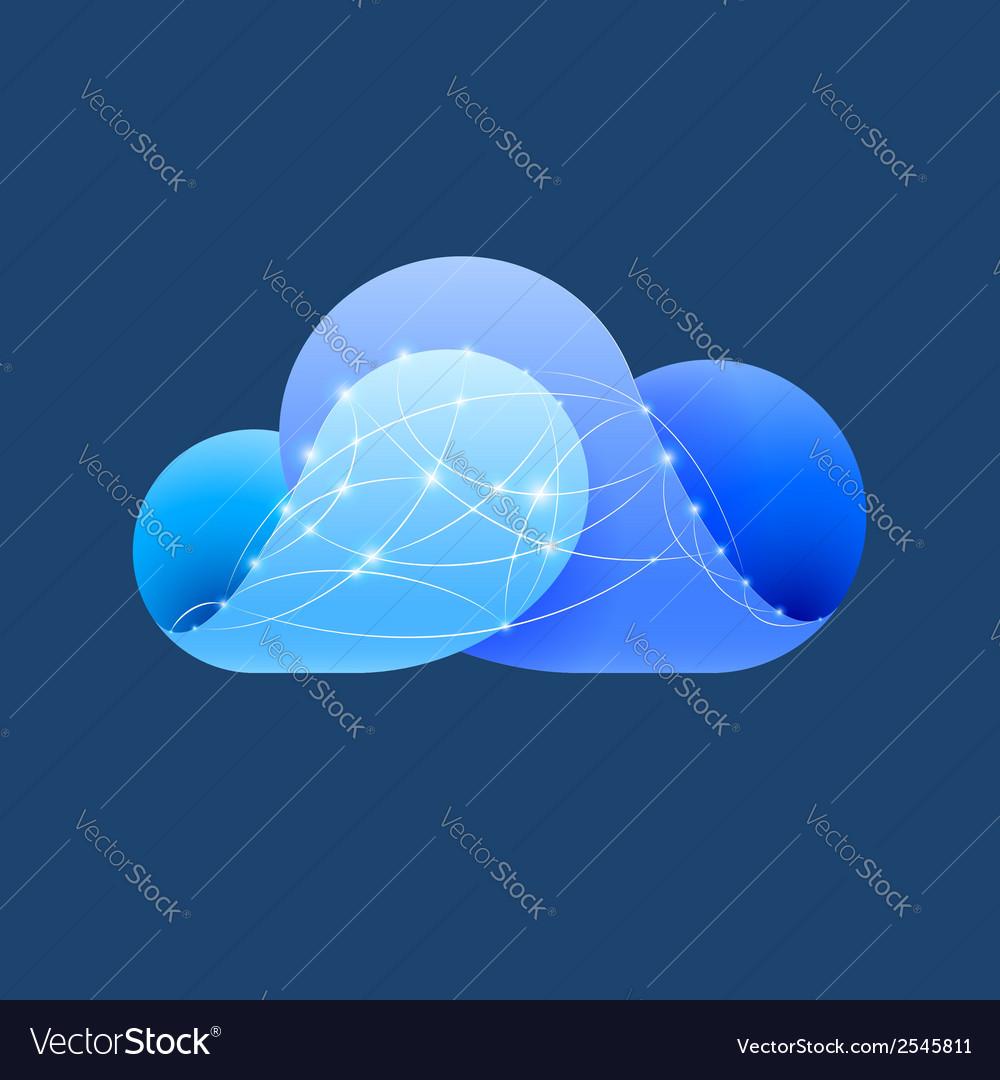 Cloud computing sign vector   Price: 1 Credit (USD $1)