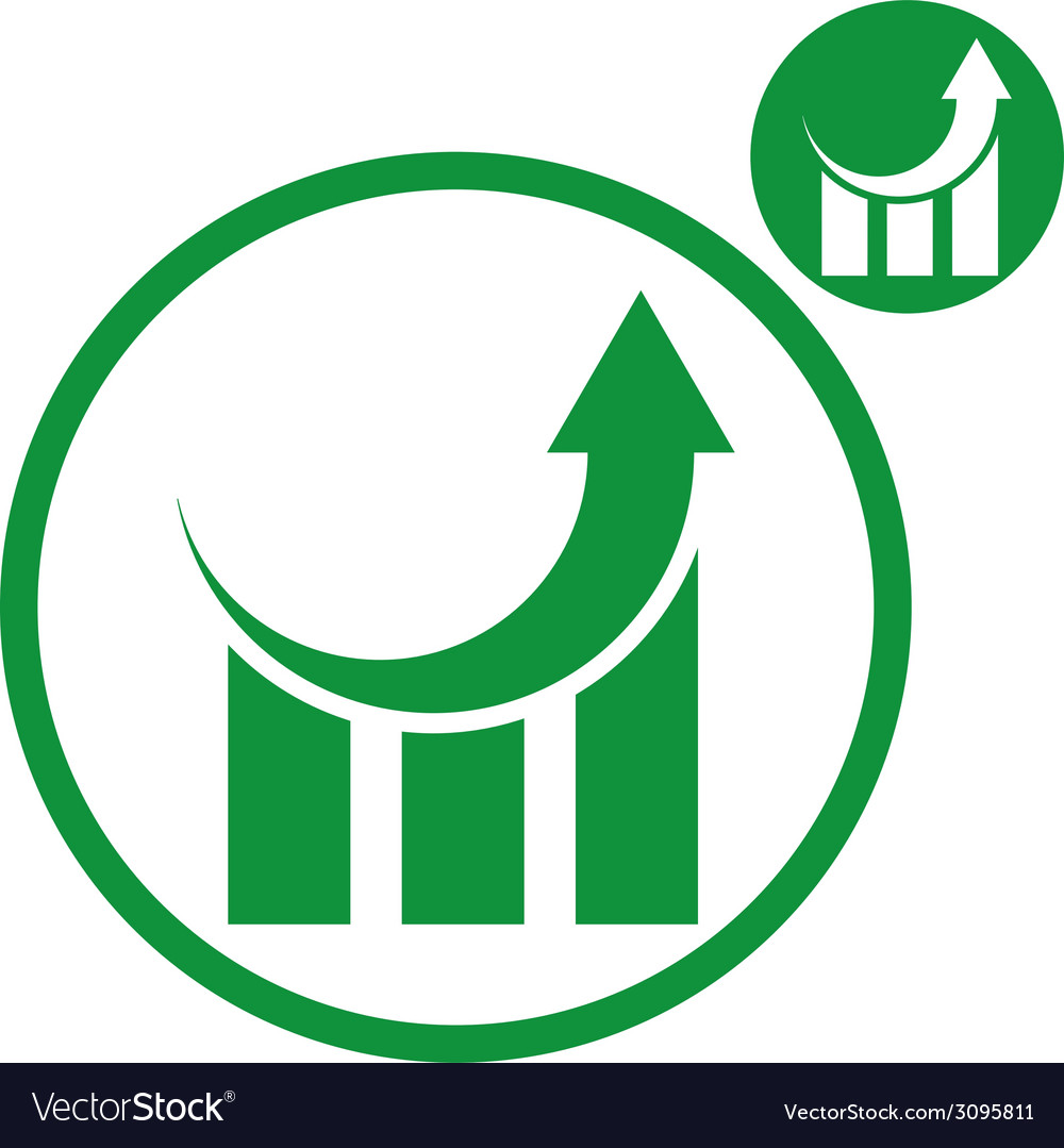 Graph growth graphics simple single color icon vector | Price: 1 Credit (USD $1)