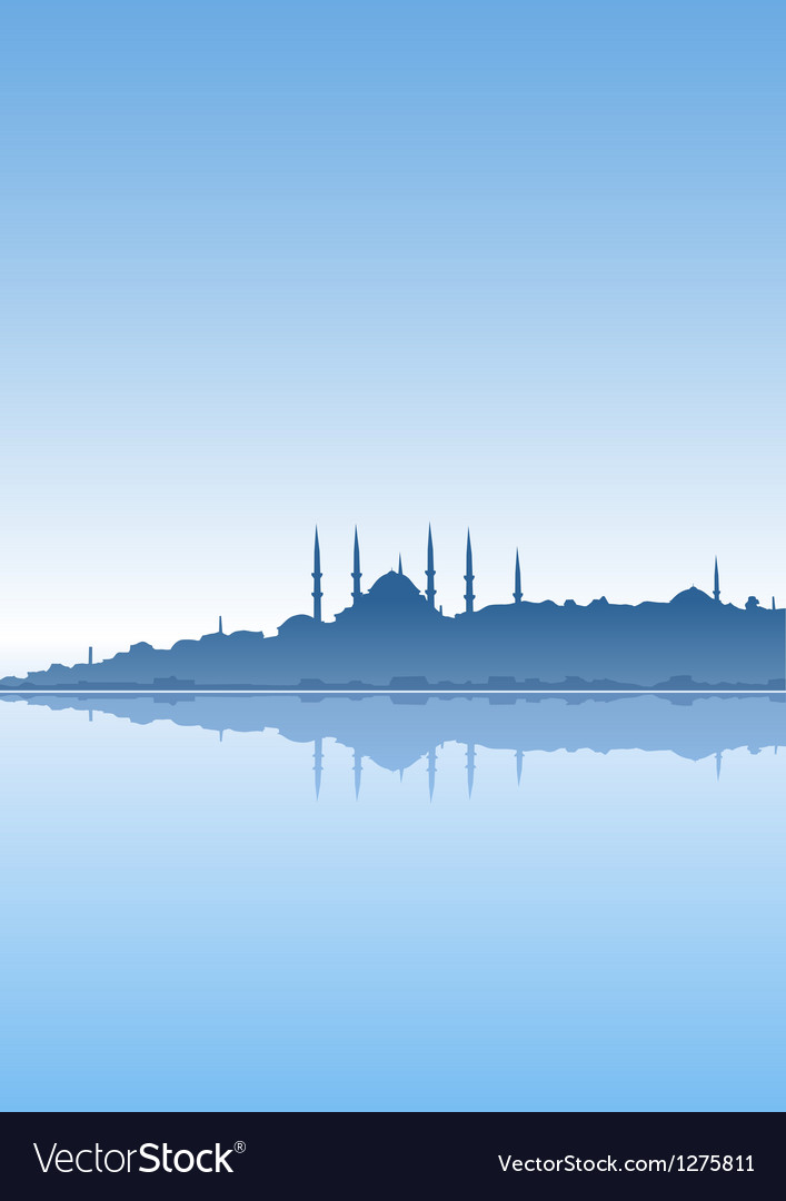 Istanbul and sea vector | Price: 1 Credit (USD $1)