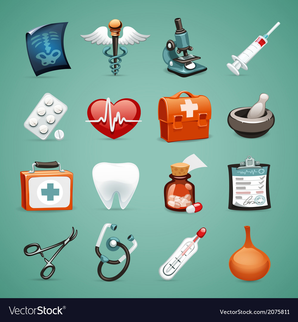 Medical icons set1 1 vector   Price: 1 Credit (USD $1)