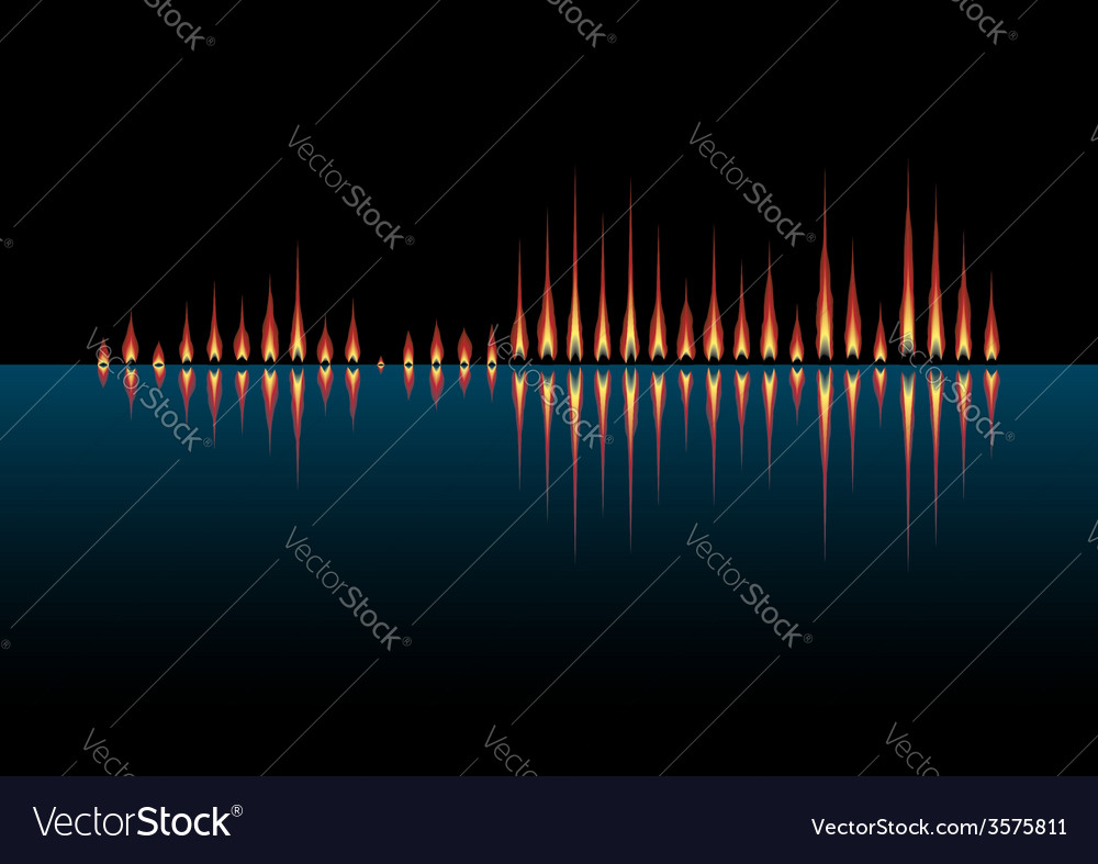 Music wave as coastal fires vector   Price: 1 Credit (USD $1)
