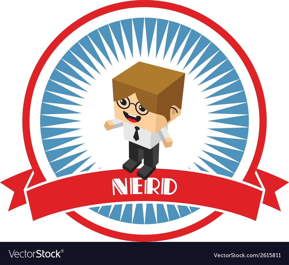 Nerd vector | Price: 1 Credit (USD $1)