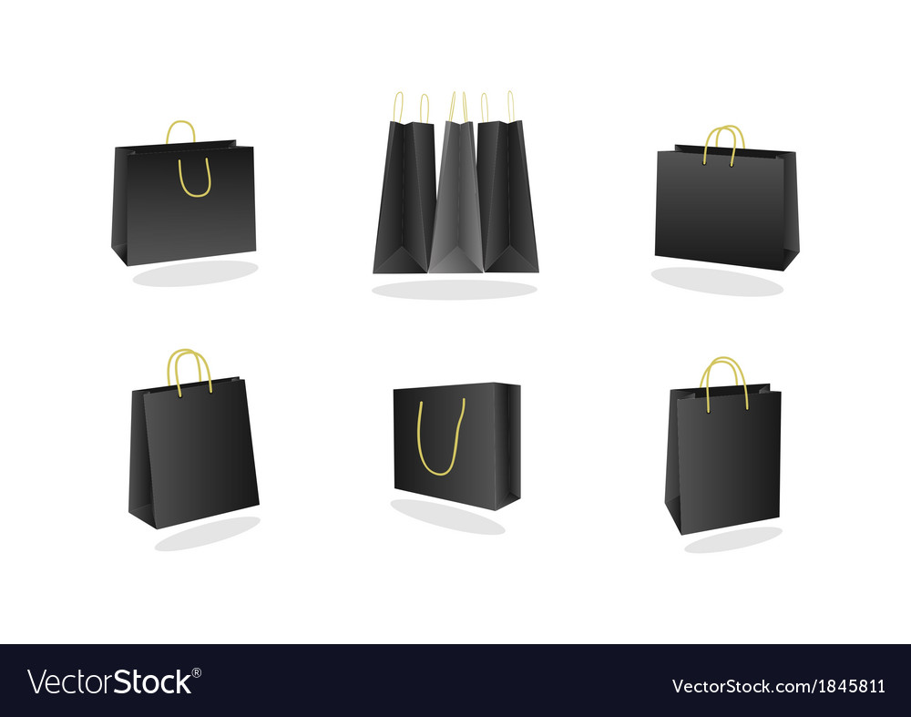 Shopping bags collection vector | Price: 1 Credit (USD $1)