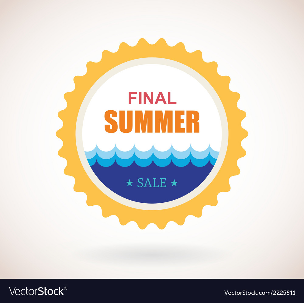 Summer sale label vector | Price: 1 Credit (USD $1)