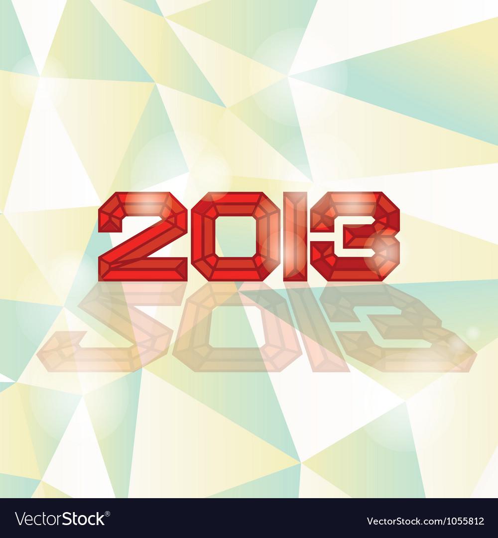 2013 heading vector | Price: 1 Credit (USD $1)