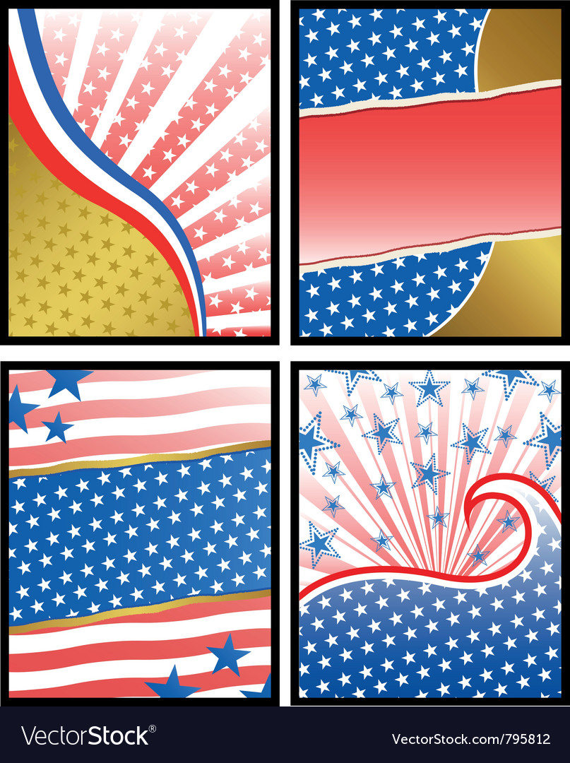 American backgrounds vector | Price: 1 Credit (USD $1)