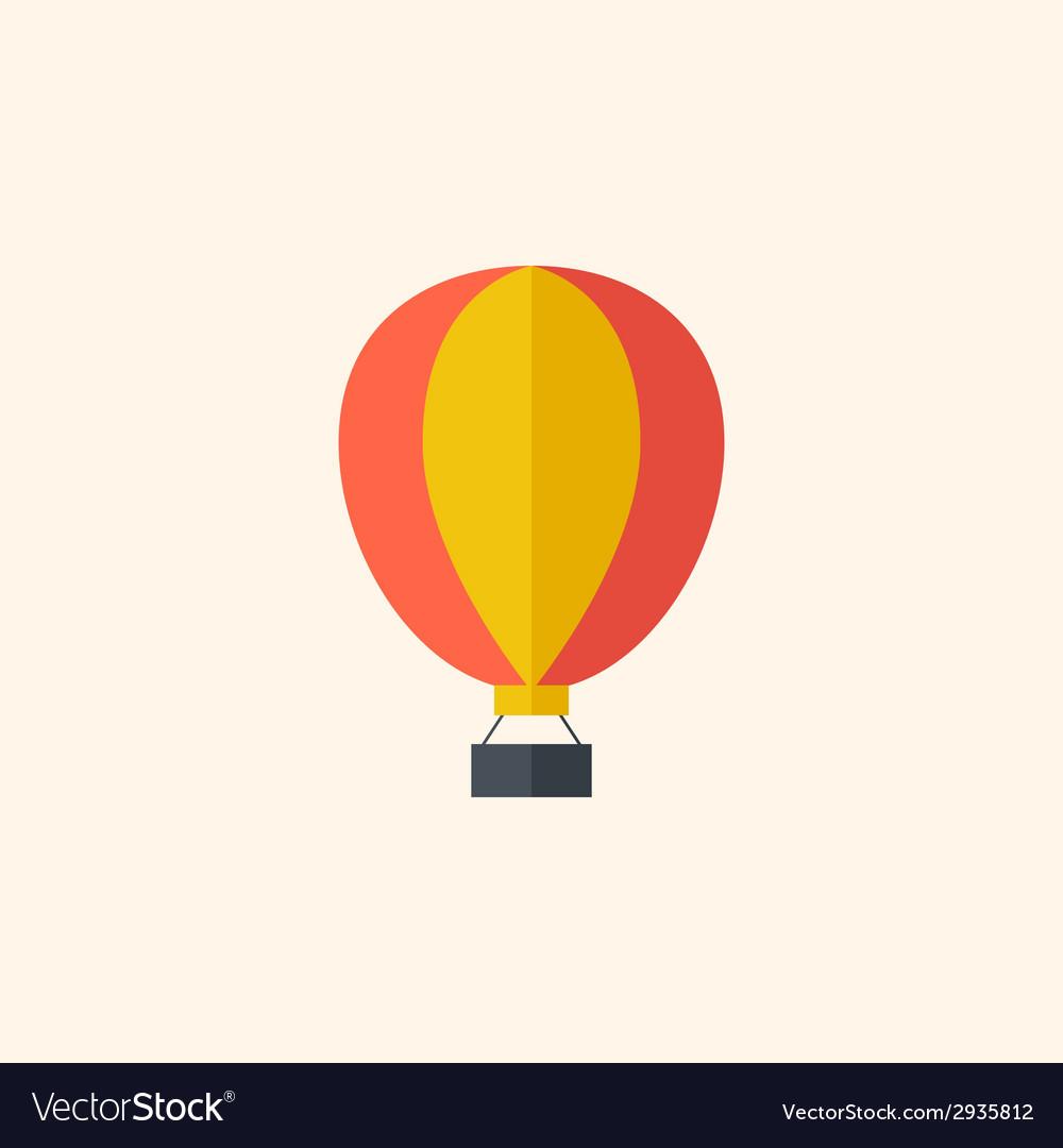Balloon travel flat icon vector   Price: 1 Credit (USD $1)
