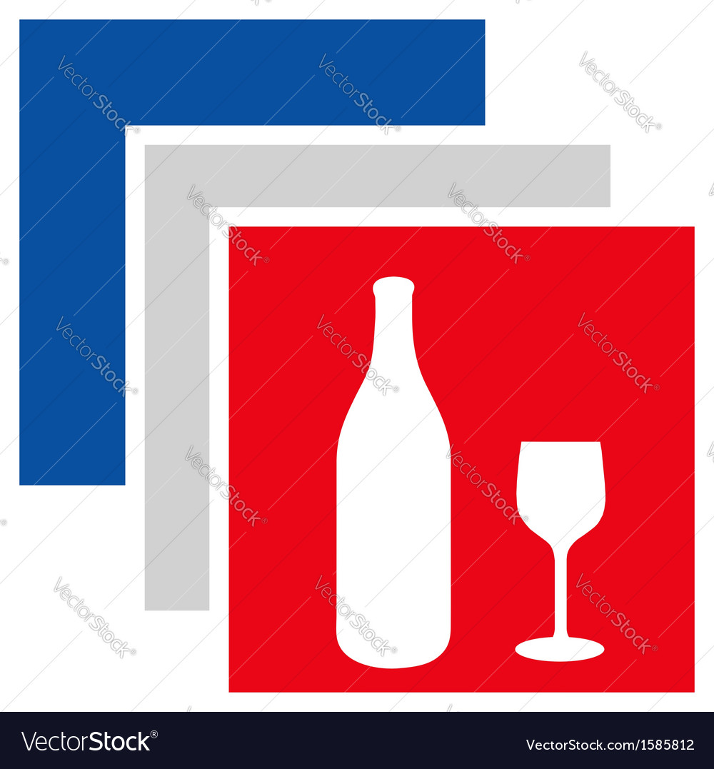Beverage logo in french flag colors vector | Price: 1 Credit (USD $1)