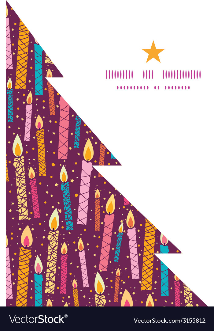 Colorful birthday candles christmas tree vector | Price: 1 Credit (USD $1)