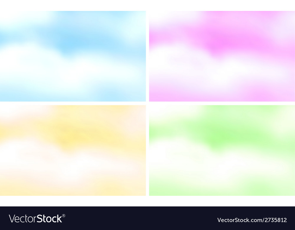 Colorful clouds vector   Price: 1 Credit (USD $1)