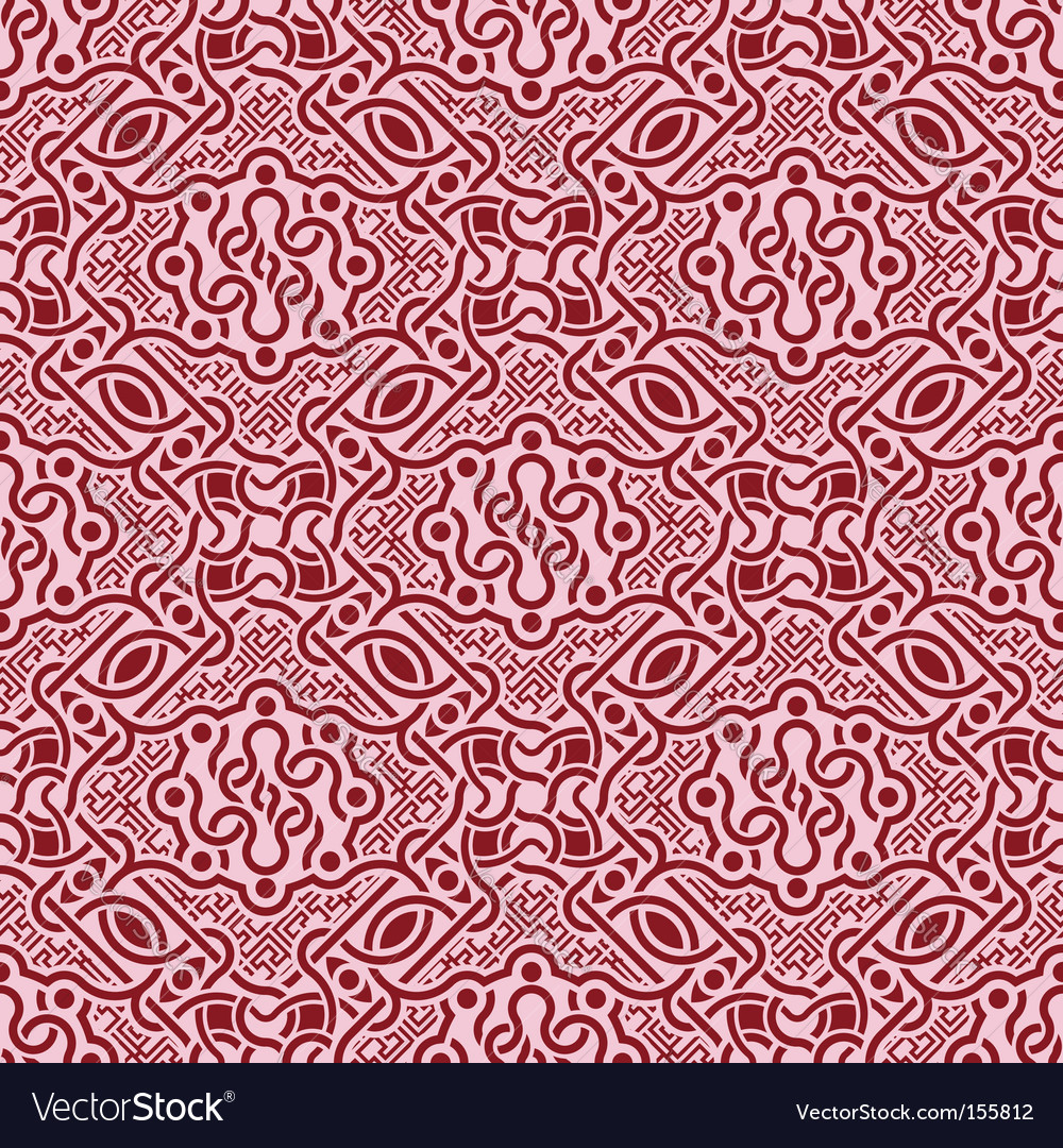 Floral seamless ornament vector | Price: 1 Credit (USD $1)