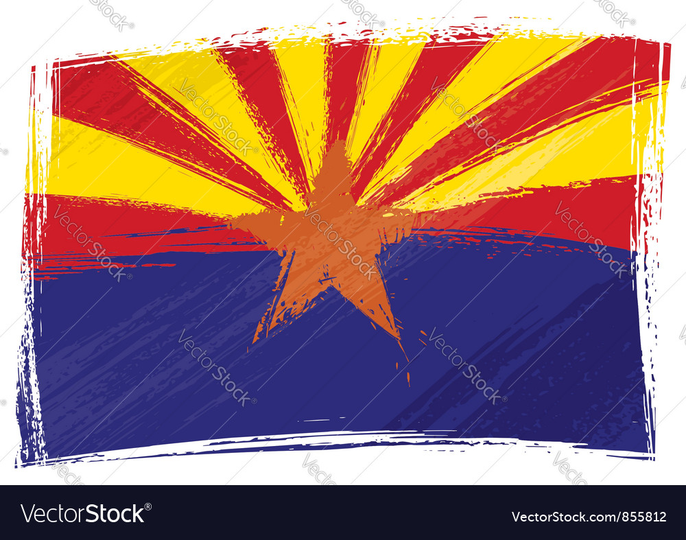 Grunge arizona flag vector | Price: 1 Credit (USD $1)