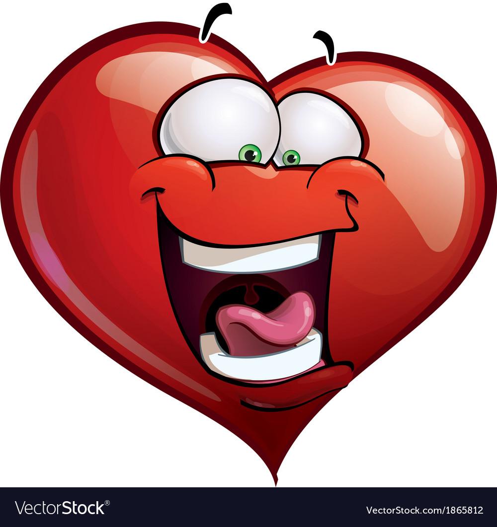 Heart faces happy emoticons lol vector | Price: 1 Credit (USD $1)