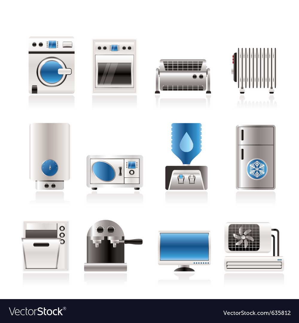 Home electronics and equipment icons vector | Price: 1 Credit (USD $1)