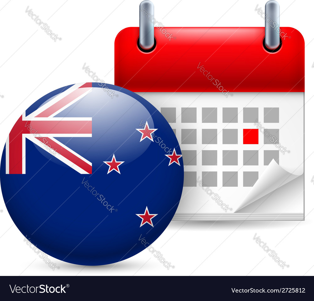 Icon of national day in new zealand vector | Price: 1 Credit (USD $1)