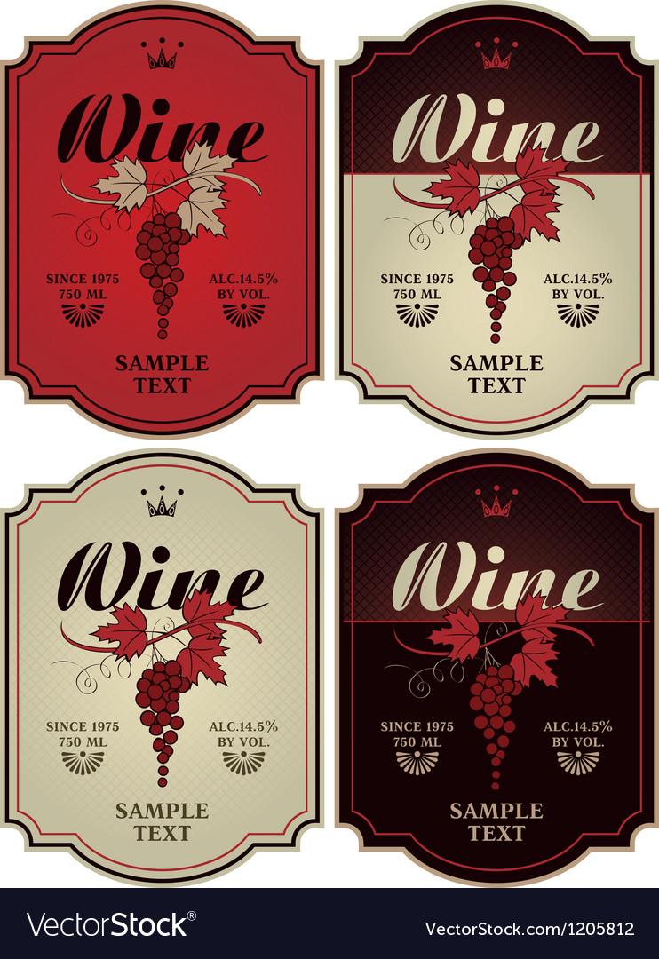 Labels for wine vector | Price: 3 Credit (USD $3)