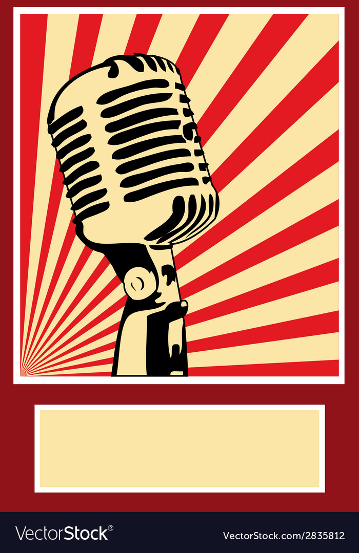 Music poster microphone vector | Price: 1 Credit (USD $1)